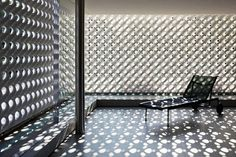 Lace-like sculptural walls naturally filter light in this Braz...