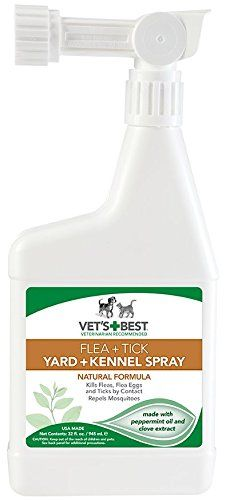 Vets Best Flea and Tick Yard  Kennel Spray 32 oz -- Click image for more details.(This is an Amazon affiliate link and I receive a commission for the sales)