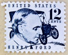 stamp USA 12c United States of America postage 12c portrait Henry Ford timbre États-Unis u.s. postage почтовая марка США pullar ABD 邮票 美国 Měiguó USA Briefmarken 郵便切手 切手 アメリカ selo Estados Unidos sello USA francobolli USA Stati Uniti d'America by stampolina, via Flickr