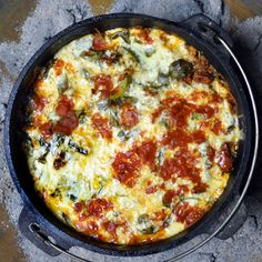 Dutch Oven Lasagna for camping