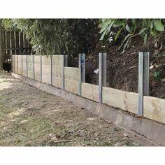 SureWall Retaining Wall Joiner Post Galvanised – back yard landscaping privacy Diy Backyard Fence, Backyard Retaining Walls, Concrete Retaining Walls, Diy Fence, Front Yard Landscaping, Concrete Fence Wall, Fence Ideas, Diy Privacy Fence, Landscaping Jobs