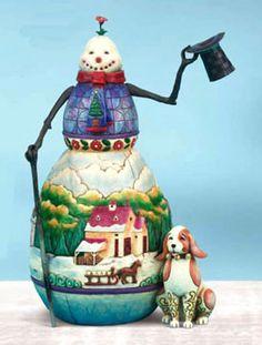 "♥ Jim Shore of Heartwood Creek..""Snowman's Best Friend"" 4008111 ♥"