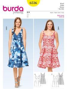 burda style: Neuheiten - Kleid – Trägerkleid – hohe Taille