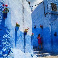 Chefchaouen Painting, Art, Morocco, Culture, Landscape, Art Background, Painting Art, Kunst, Paintings