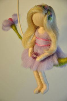 Waldorf inspired needle felted doll mobile The by MagicWool, $60.00
