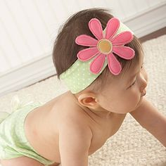 """""""Bunch O' Blooms"""" Headband with Booties Gift Set"""