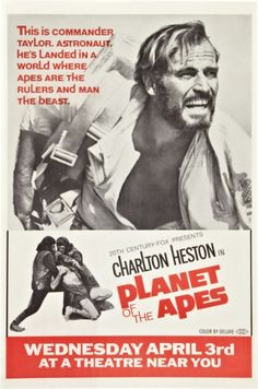 Planet of the Apes, 1968, movie poster