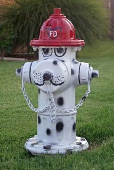 This Hydrant is very creative! My website (A blog from a dog's point of view): PrestonSpeaks.com #dogs #hydrants #fire