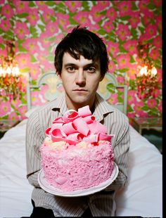 I've always thought this should be a blue cake... if it's your birthday... Conor Oberst