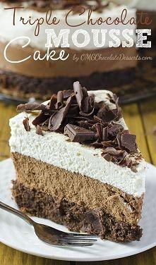 Zobacz zdjęcie Ciasto z musem z czekolady mlecznej i białej przepis ang. [klik]  Składniki  ...