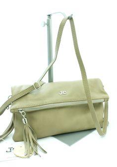 Borsa Pochette borsetta Tracolla in pelle JackyCeline Art B210 colore Nero