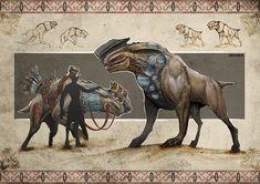 Alien desert planet creatures by Darius Kalinauskas   Sci-Fi   2D   CGSociety