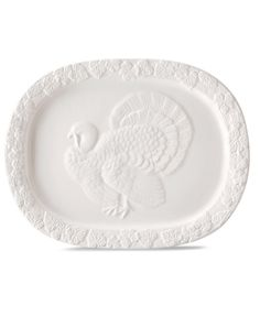 Martha Stewart Collection embossed turkey platter — serve up the bird with a side of style