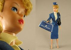 Ponytail Barbie with American Airlines outfit, circa 1961
