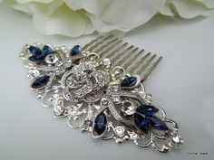 Bridal Rhinestone Hair Comb Wedding Rhinestone Hair by DivineJewel, $49.00
