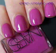 Thakoon for NARS summer 2012 nail collection, Ratin Jot I love this color .want it on my toes! Love Nails, How To Do Nails, Fun Nails, Pretty Nails, Colorful Nail Designs, Cute Nail Designs, Nail Polish Colors, Pink Polish, Nail Polishes