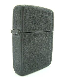 WWII-era black crackle Zippo lighter