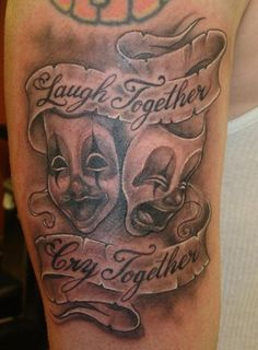 laugh together cry together tattoo