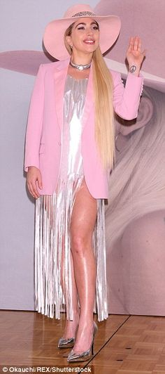 Walk this way: Gaga was in high spirits at the event, and ensured she lived up to her sassy reputation