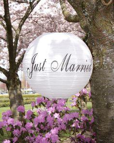 """""""Just Married"""" Wedding Lanterns"""