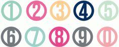Silhouette Design Store - View Design #64177: circle monogram numbers