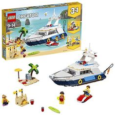 Buy LEGO Creator: Cruising Adventures at Mighty Ape NZ. Sail aboard a luxury yacht with the Cruising Adventures set! Head for sunny shores with the LEGO® Creator 31083 Cruising Adventures set, featuri. Lego Ninjago, Lego 4, Lego Duplo, Lego Toys, Buy Lego, Ninjago Games, Lego Creator, The Creator, Lego Disney