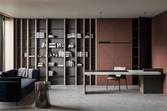 This particular home office organization is a really inspirational and amazing i. This particular home office organization is a really inspirational and amazing idea Modern Office Design, Office Interior Design, Home Office Decor, Office Interiors, Office Furniture, Furniture Design, Interior Work, Office Ideas, Soundproof Panels