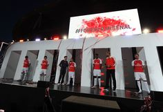 Launch of Arsenal's home kit for season 2015/16 at Emirates Stadium on June 15, 2015.