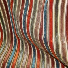 Myriad Spice Striped Cut Velvet Upholstery Fabric by Golding Upholstery Drapery Home Accent Golding Savvy Swatch Upholstery Fabric For Chairs, Chair Fabric, Fabric Decor, Fabric Design, Wingback Chairs, Pillow Fabric, Drapery Fabric, Curtains, Tapestry Fabric