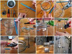 pot-confiture-idée-DIY-lanterne-bougies pots de confiture décoratifs