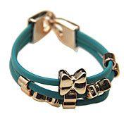 Bowknot PU Bracelet (Assorted Color) – USD $ 2.07