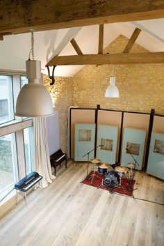 Recording Studio with Gabled Ceiling. Miloco Studios' Angelic Residential Recording Studio, Northants, UK.     Visit http://www.createnewmusic.com/ Create Your Own Sick Beats With A Complete Online Recording Studio! Good Enough For Pro's and Simple Enough For Bigginners.
