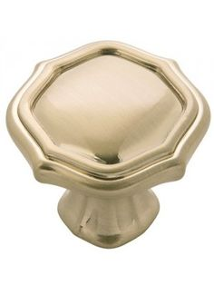 Inch Diameter Trellis Knob in Elusive Golden Nickel Kitchen Cabinet Knobs, Cabinet Hardware, Kitchen Cabinets, Craftsman Exterior, Quatrefoil Pattern, Thing 1, Metal Finishes, Elegant Homes, Cut Glass