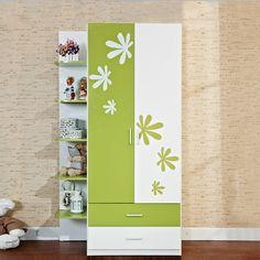 Детский двухдверный шкаф с зелеными и белыми рисунками и полками для игрушек купить в интернет-магазине https://lafred.ru/catalog/catalog/detail/35056934261/
