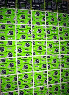 Rag Quilt  Made with NFL-Seattle Seahawks-Fabric  by RAGGEDYnANN