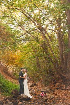 easyweddings.com.au Real weddings. #rusticwedding #autumn #fall #bride #forest #wedding #bouquet #updo #fallwedding #weddingphotos #wedding photography #realweddings