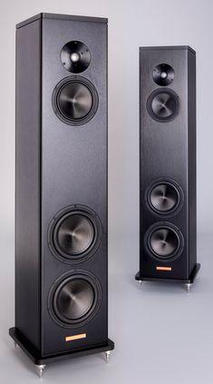 klein hummel with speaker stand ovation by liedtke metalldesign lautsprecherst nder speaker. Black Bedroom Furniture Sets. Home Design Ideas