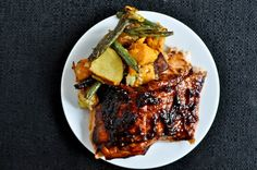 grilled blueberry bbq salmon.