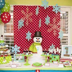 Snowman Winter ONE-derland Party {First Birthday}