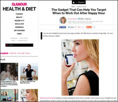 BACtrack Mobile in Glamour Magazine--how our smartphone breathalyzer makes your workouts more effective.