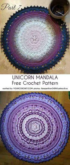 4a0b1b221ef9b Unicorn Mandala Free Crochet Pattern