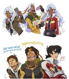 Lance, Hunk, Keith
