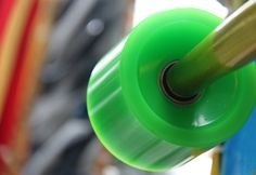 New green wheels by janetvincent, via Flickr