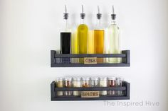 Looking for ikea kitchen hacks? The ikea furniture makeover ideas will help you decorate kitchen and do it on a low budget. Ikea Spice Rack Hack, Diy Spice Rack, Spice Storage, Pantry Storage, Kitchen Storage, Ikea Rack, Smart Storage, Kitchen Hacks, Ikea Regal