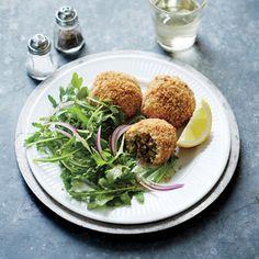 Picadillo-stuffed Mashed Potato Balls | CookingLight.com #myplate #protein  #wholegrain