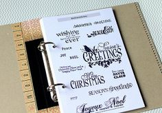 organization: text stamps / sentiments