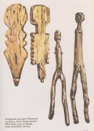 Freyr and Freyja 5th century pairs of male and female wooden idols Wittemoor Timber Trackway, Berne, Lower Saxony