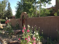 hollyhocks New Mexico | Art, flowers, friends, sunshine… can't beat Santa Fe in the summer