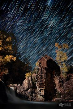 ~~Starry Night Star Trails At The Crystal River Mill ~ near Marble, Colorado by Mike Berenson - Colorado Captures~~