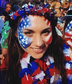 World Cup USA face paint #soccer #football #fifaworldcup
